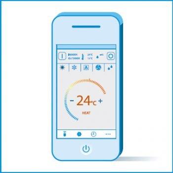 Control de pe smartphone, de oriunde si oricand - Daikin Sensira Bluevolution 24000 BTU