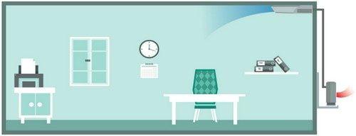 Unitate de aer conditionat de tavan - modul rece - Magazine si Spatii Comerciale